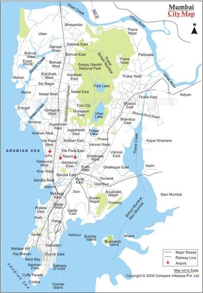 Mumbai On Map Of India.Mumbai City Map Mumbai India Mappery