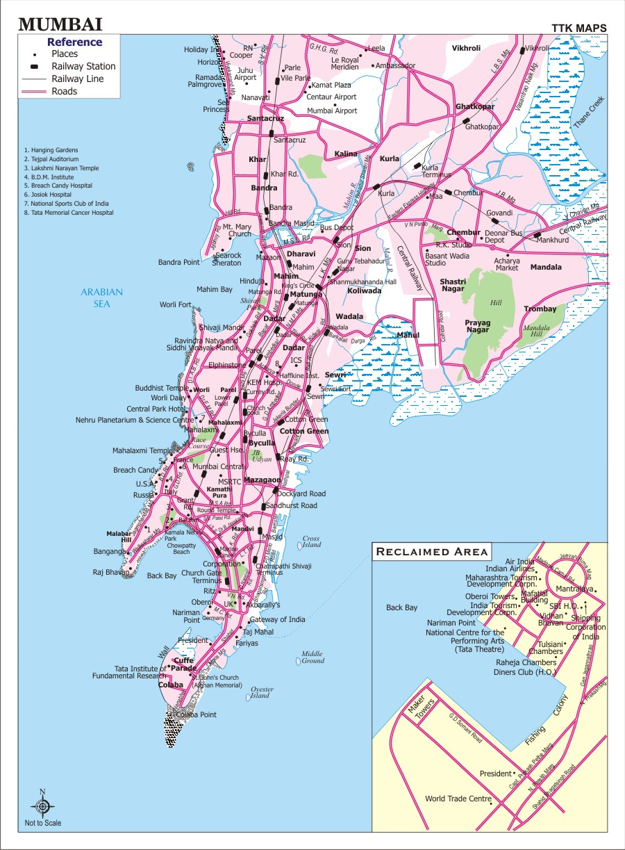 Mumbai city map mumbai india mappery gumiabroncs Gallery