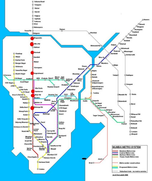 Mumbai Public Transportation Map