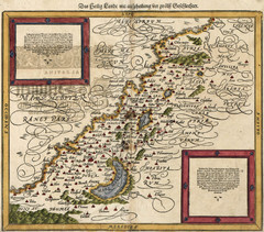 Munster's Map of the Holy Land (1588)
