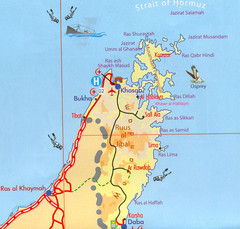 Musandam Oman Map