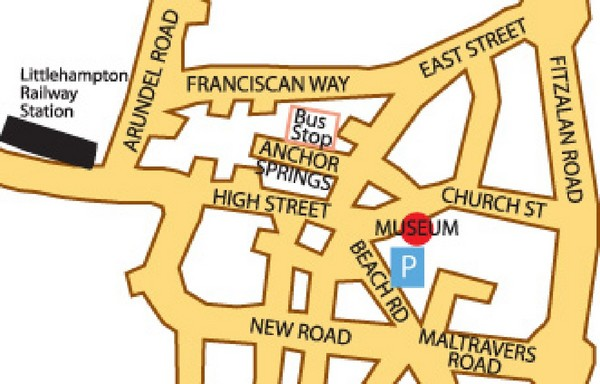 Museums in West Sussex, England Map