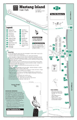 Mustang Island, Texas State Park Facility and Trail Map