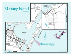 Mustang Island, Texas State Park Map