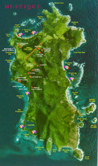Mustique Island Map