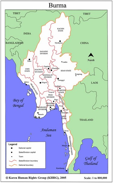 Southeast Asia Ecotourism Map thailand mappery