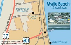 Myrtle Beach Tourist Map