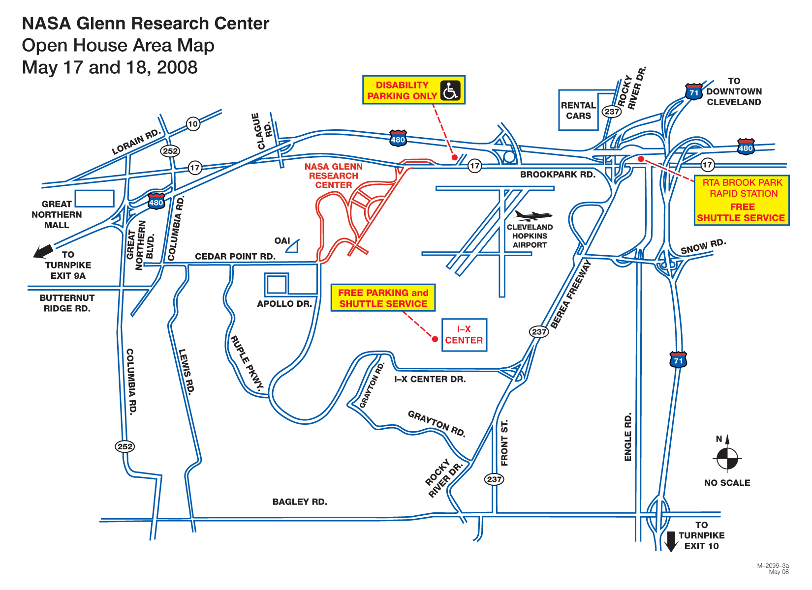 NASA Glenn Research Center Location Map - 21000 Brookpark ...