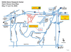 NASA Glenn Research Center Location Map