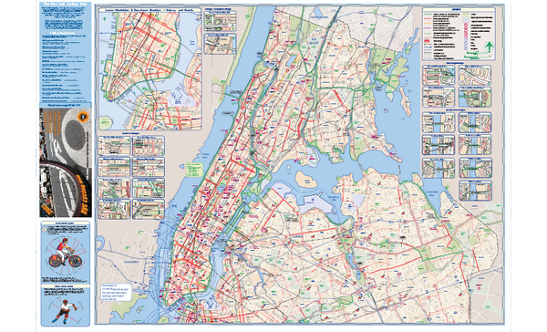 fullsize nyc biking route map manhattan queens