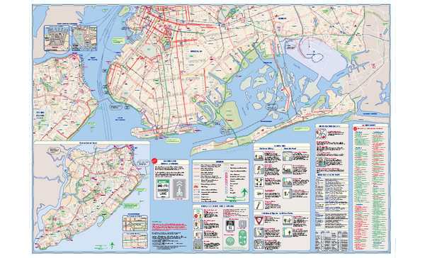 NYC Biking Route Map (Part of Queens, Brookyln and Staten Island)