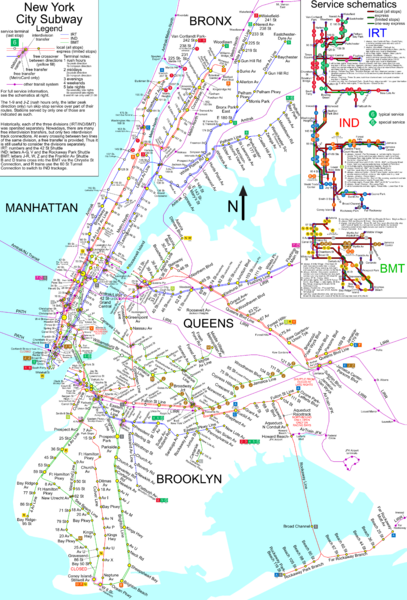 Subway Map New York Manhatten.Nyc Subway Map Unofficial New York Ny Mappery