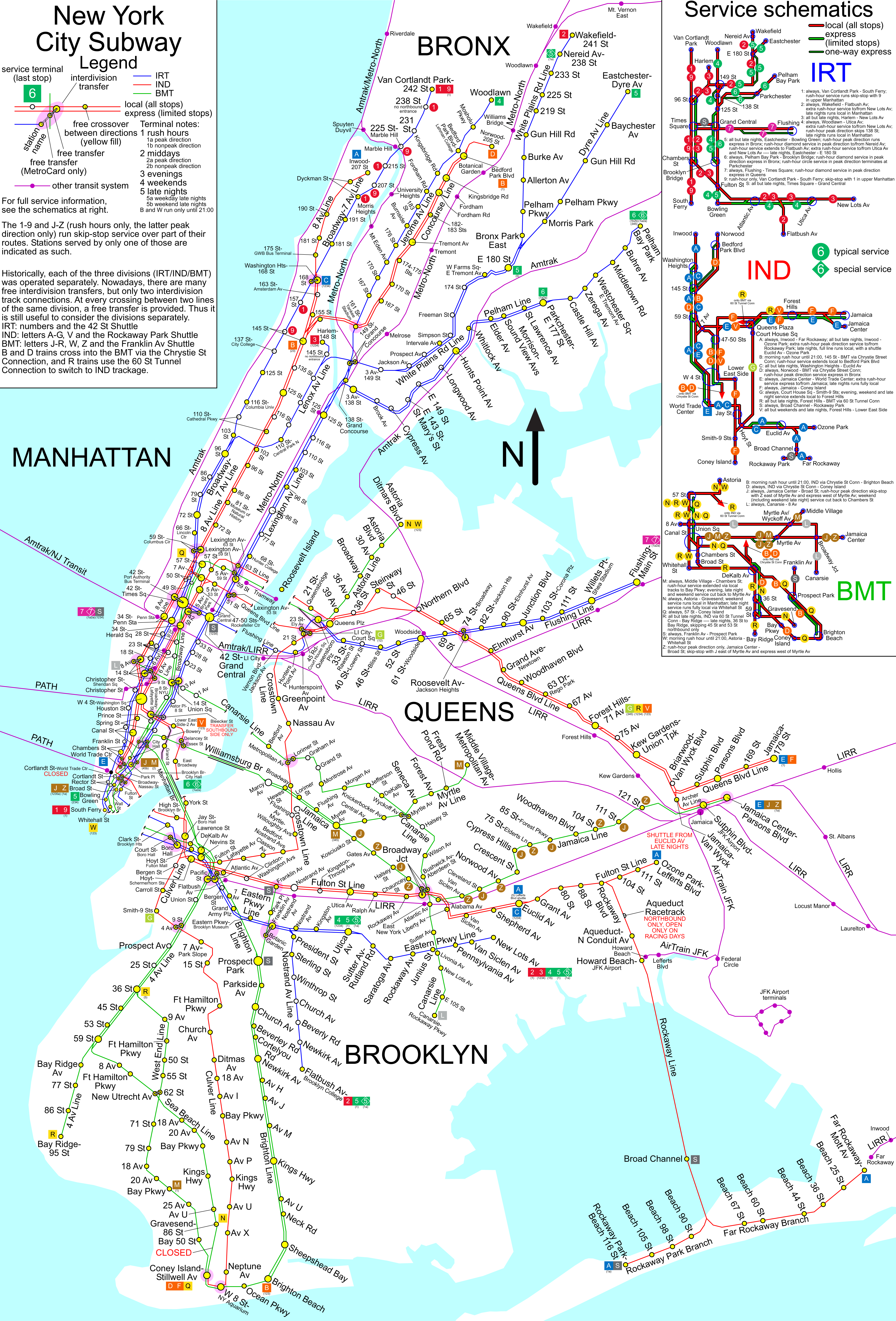 NYC Subway Map unofficial - New York NY • mappery