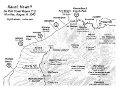 Na Pali Coast Kayak Map