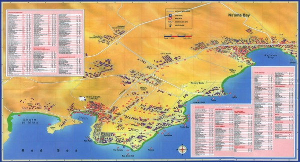 Nabq Bay Tourist Map Nabq mappery – Egypt Tourist Attractions Map