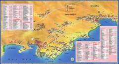 Na'ama Bay, Egypt Tourist Map