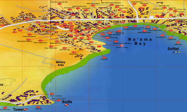 Eastern Egypt Tourist Map El Gouna Mappery - Map of egypt el gouna