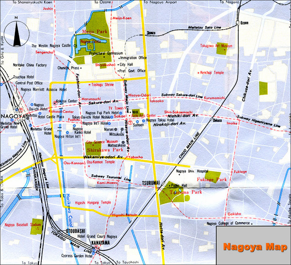 Sakae Nagoya Tourist Map Sakae Nagoya mappery – Tourist Map Of Japan English