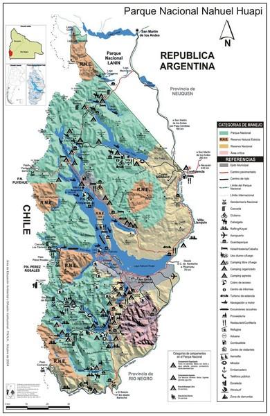 Nahuel Huapi National Park Map Parque Nacional Nahuel Huapi - Map argentina national parks