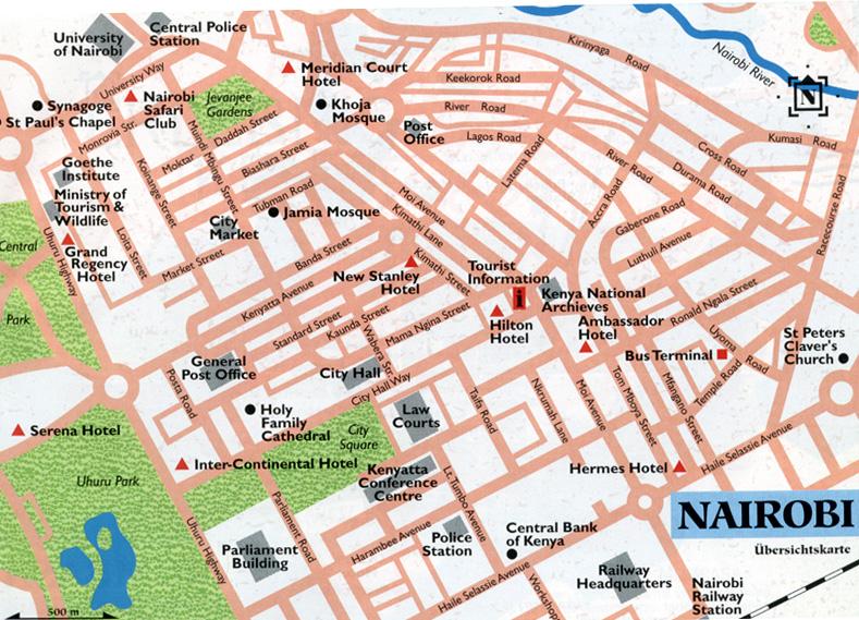 Nairobi City Map uhuru park Nairobi Kenya mappery
