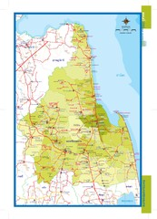 Nakhonsithammarat, Thailand Map