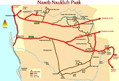 Namib Naukluft Park Map