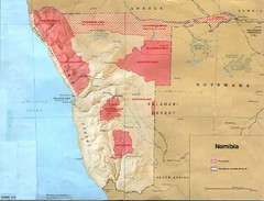 Namibia Homelands Map
