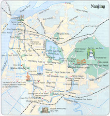 Nanjing China Tourist Map