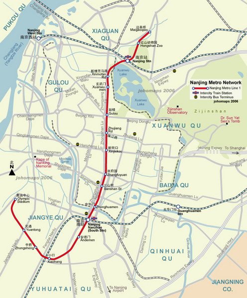 Nanjing Metro Map Nanjing China Mappery - Nanjing map