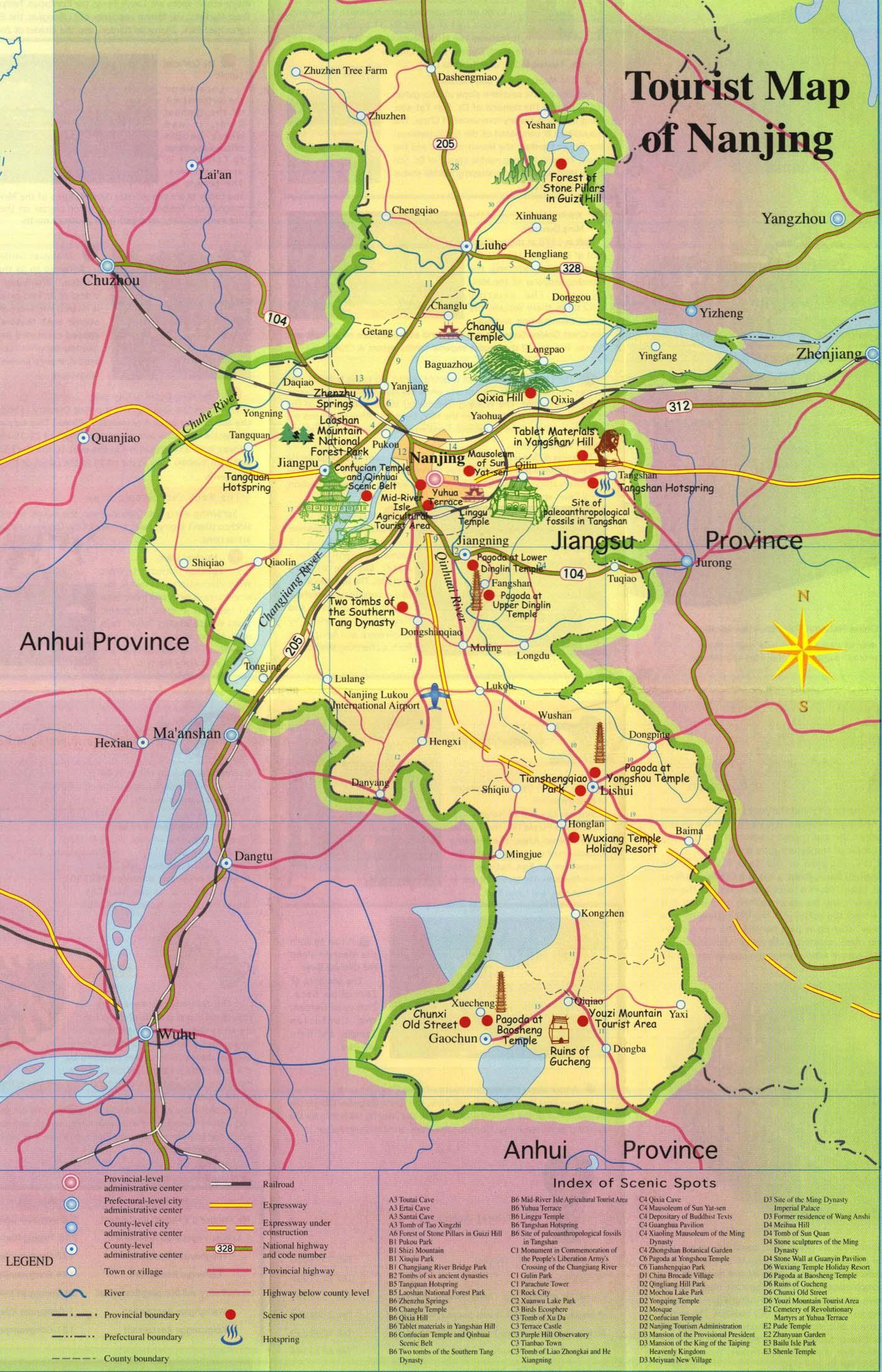 Nanjing Tourist Map Nanjing mappery