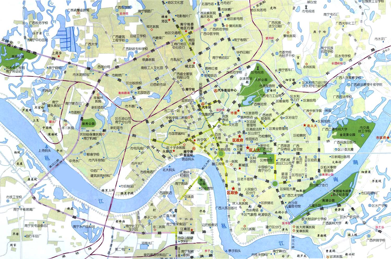 Nanning China  City pictures : Nanning China Map Nanning China • mappery