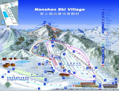 Nanshan Ski Trail Map