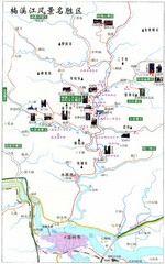 Nanxi River Area Tourist Map