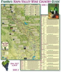 Napa Valley Wine Country Guide Map