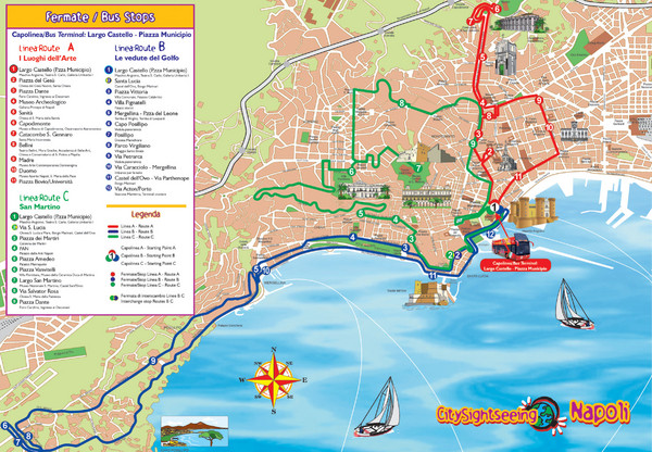 Naples Tourist Map Naples Italy mappery – Tourist Map Of Italy