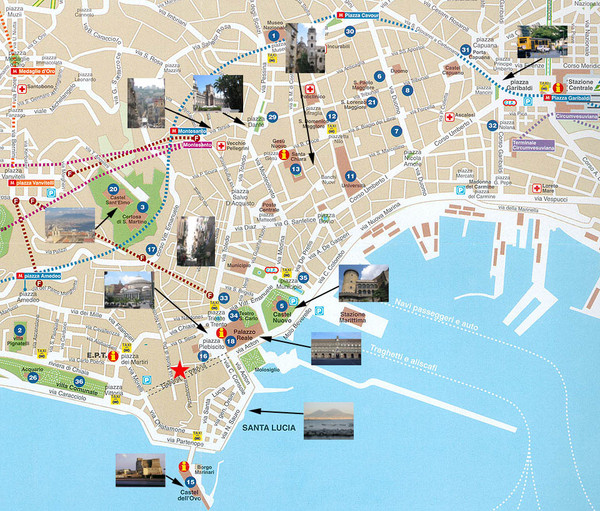 Napoli Tourist Map Napoli Italy mappery