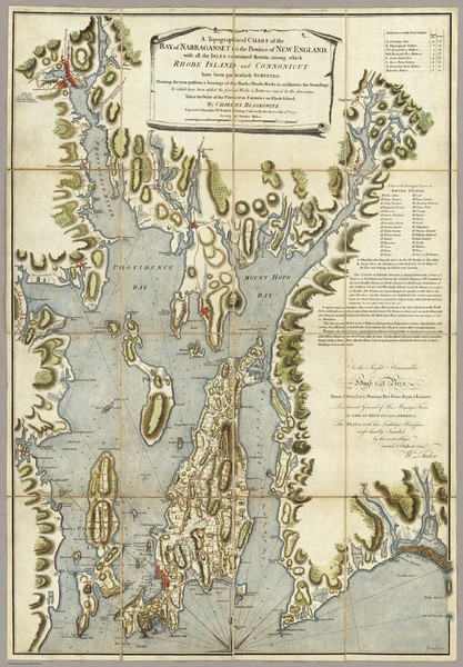Narrangansett Bay Map 1777