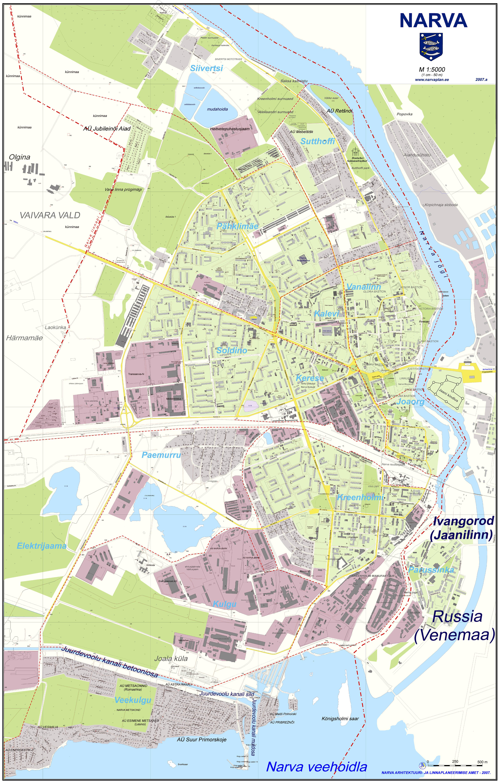 Narva city Map narva estonia mappery