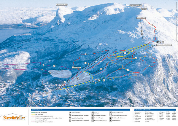 Narvik Ski Trail Map