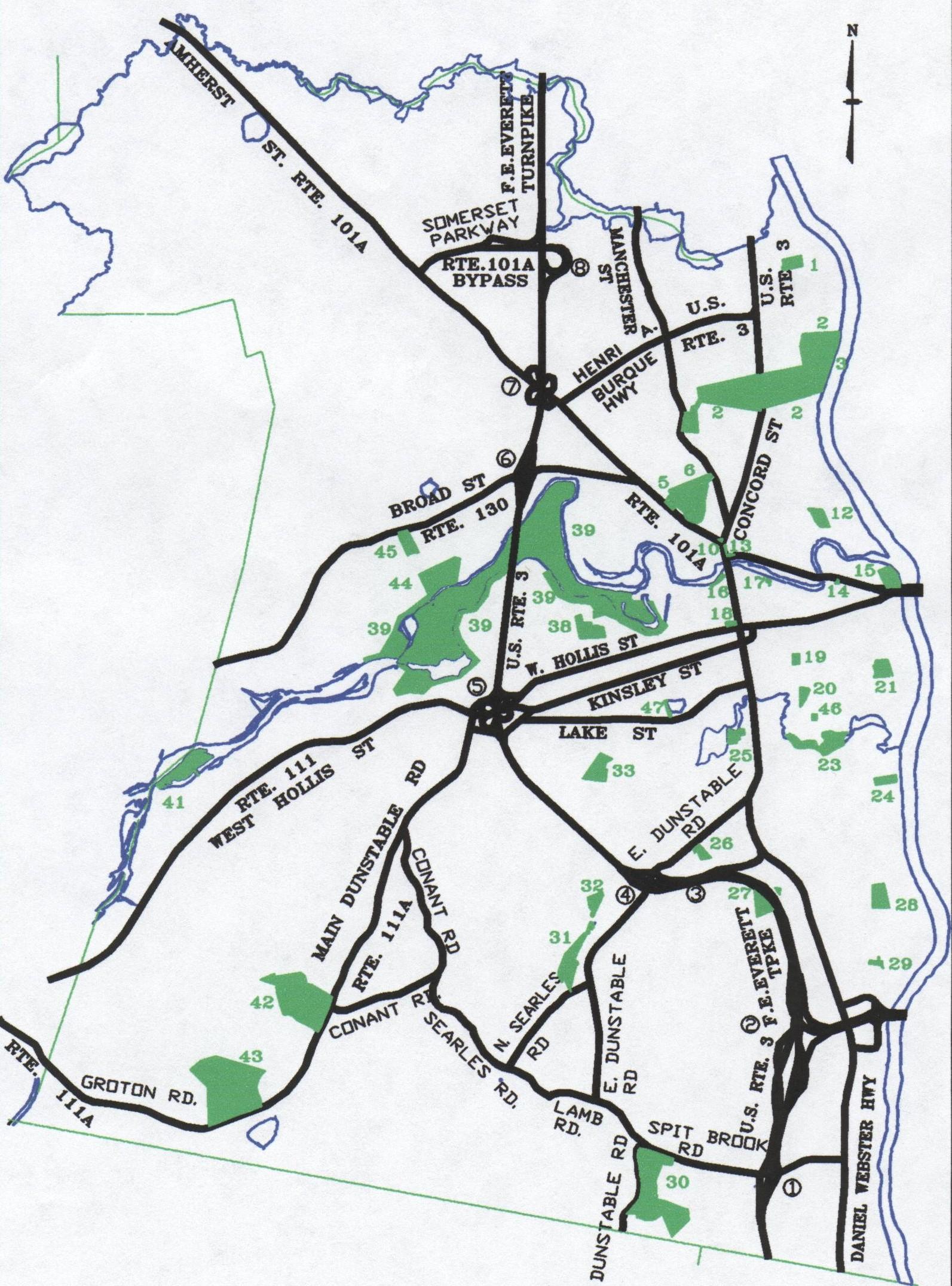 Nashua Parks Map  Nashua New Hampshire  Mappery
