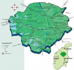 Nasjonalparkriket National Park Region Map