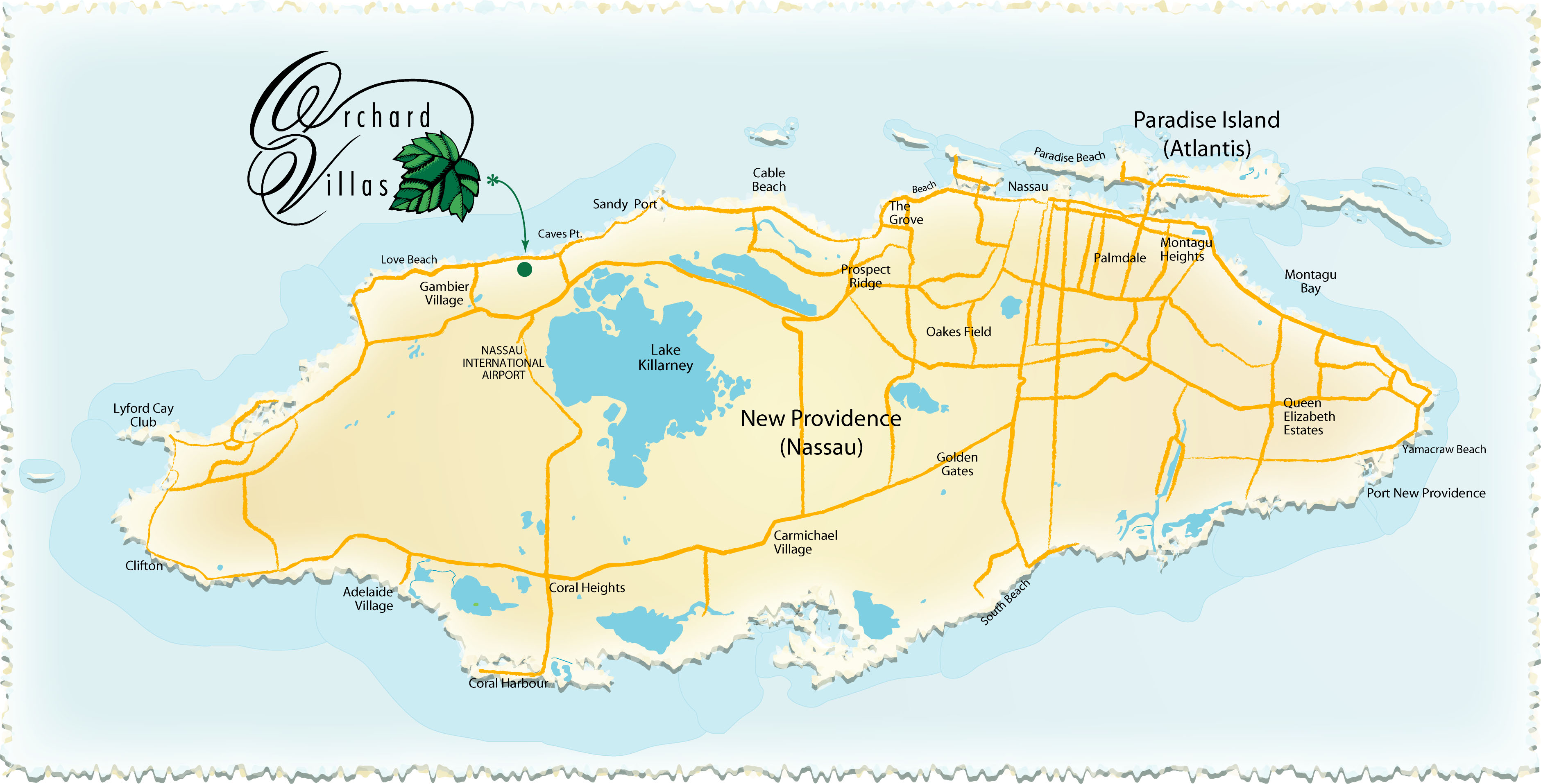 Nassau Island Map Nassau mappery – Tourist Map Of Nassau Bahamas