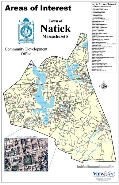 Natick Areas Of Interest Map
