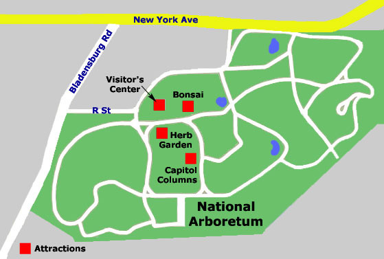 National Arboretum Map - District of Columbia • mappery on lincoln park map, andrews air force base map, national aquarium map, dc general hospital map, national zoo map, holocaust museum map, detailed oregon road map, supreme court building map, national zoological park map, kingman island map, chicago botanic garden map, usda washington state map, historic anacostia map, national art gallery map, national cathedral map, national museum map, kenilworth aquatic gardens map, national hospital map, metropolitan branch trail map, west potomac park map,