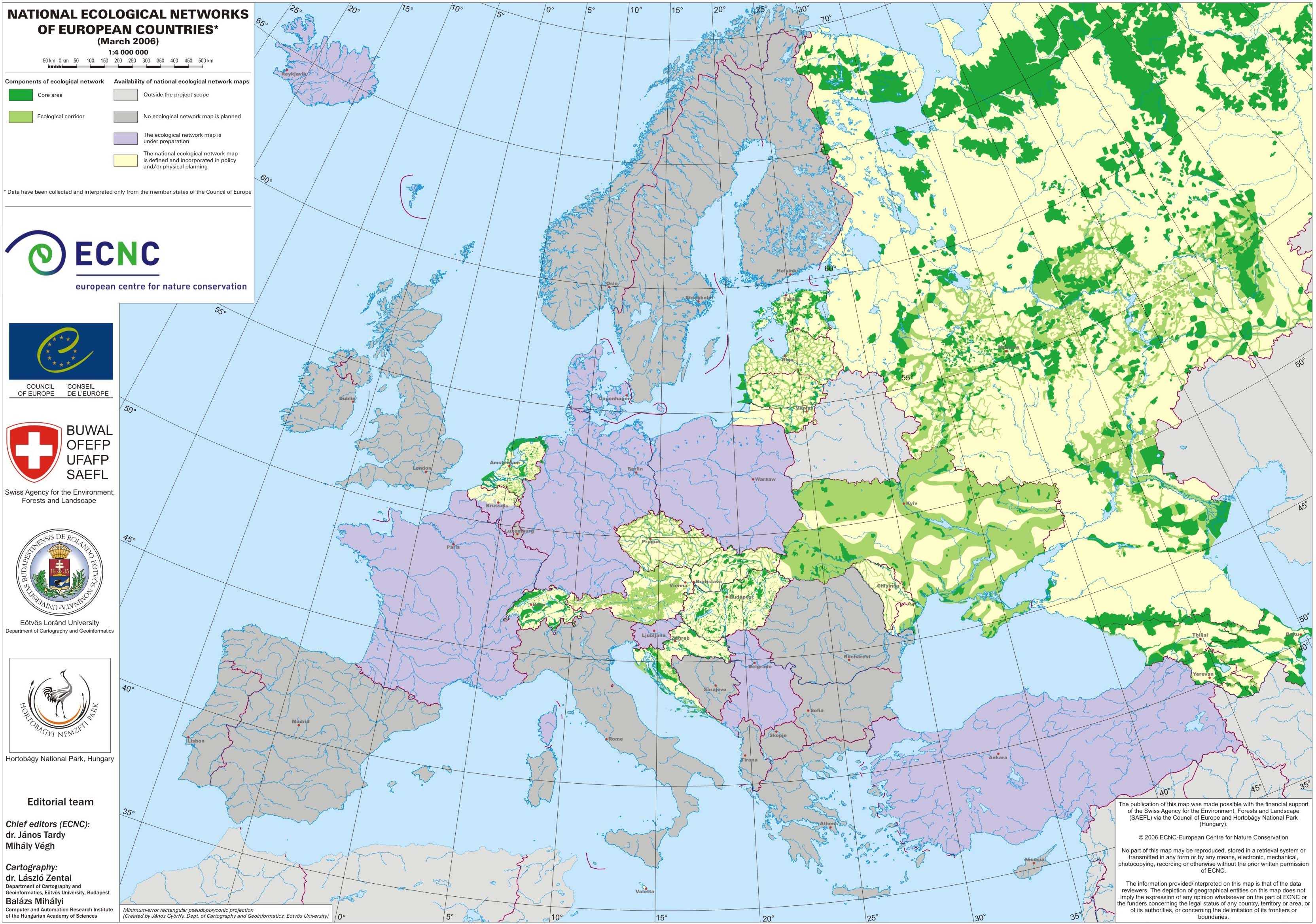 national ecological networks of european countries map daumlbowo poland mappery