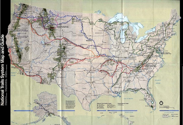 National Trails System Map