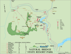 Natural Bridge State Resort Park map