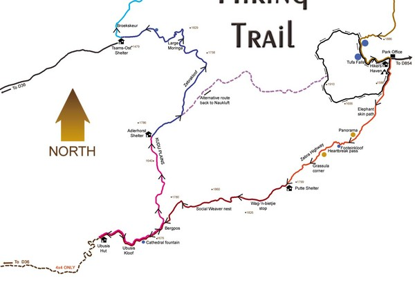 Naukluft Hiking Trail Map
