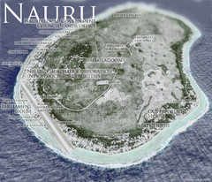 Nauru Tourist Map