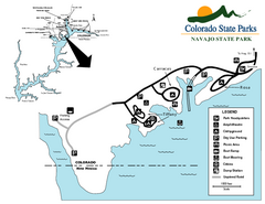 Navajo State Park Map